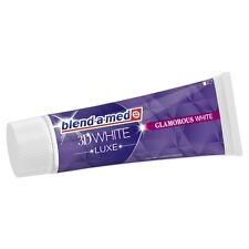 3 x BLEND-A-MED - Toothpaste 3 D White - Glamorous White - 75 ml - FREE SHIPPING