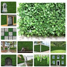 12pcs / 24pcs Artificial Plant Foliage Hedge Grass Mat Greenery Wall Fence Panel