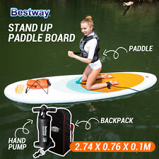 NEW BESTWAY Inflatable Stand Up Paddle Board Highwave Sup Kayak Surfboard 2.7M