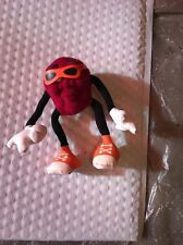 80s Calrab California Raisins Figure with Orange Sneakers &Shades bendable 5""