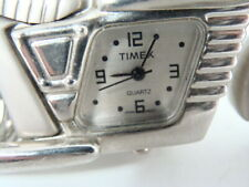Timex Chrome Metal Motorcycle Clock Works