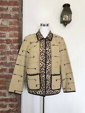 Indigo Moon Size Medium Wearable Art Jacket Leopard Animal Print Button Front