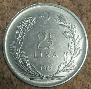 Turkey 2 1/2 Lira 1962 Coin
