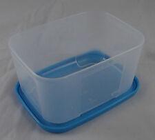 Tupperware Kühlschrank System Frische System Dose 700 ml hoch Klar Blau Neu OVP