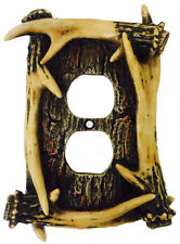 Deer Antler Outlet Cover, Electrical Switch Plate Cabin Decor 4130