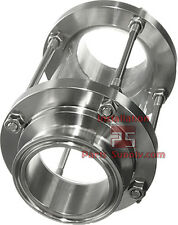 """1.5"""" Sight Glass Sanitary Tri-Clamp Clover Fitting Water Wine Dairy Beer Brewing"""