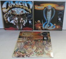 Omen Lot of 3 LPs Warning Of Danger + Battle Cry + The Curse LP Record new 2017