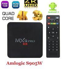1G+8G 4K  MXQ Smart Tv Box PRO Android 7.1 17.3 Amlogic S905W Quad Core Wifi 3D