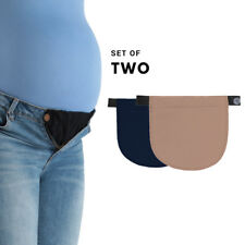 Set of 2 Pregnancy Adjustable Waist Jeans Trousers Band Belt Extender Elastic