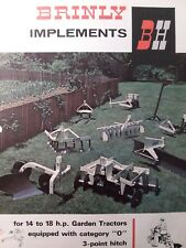 "Brinly cat""0 3-point Hitch Implements 14-18 Garden Tractor Sales Brochure Manual"