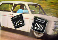 Pair Hillman Imp Rootes 998 Side Badge Inserts - Not chrome bezel, just inserts.
