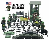 Action Bricks Army Minifigure Boarders and Towers Set 8 Total Minifigures