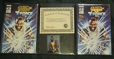 """MR.T and the T-FORCE , """"Signed Gold Edition"""", First Issue, Trading card and COA"""