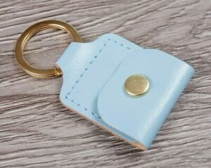 Deluxe Leather Coin Holder Trolley Token SD Card  Key Ring Holder Pouch UK Made