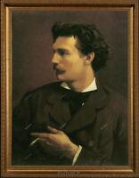 Old Master Art Man Portrait German Gentleman - Cigarette Canvas Unframed 24x30