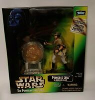 NEW Star Wars POTF Action Figure Special Edition with Coin Princess Leia Endor