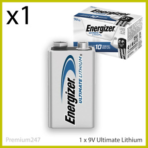 Energizer 9V PP3 ULTIMATE LITHIUM Battery 6LR61 MN1604 LR22 E-BLOCK LONG EXP