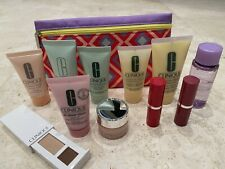 Clinique cosmetics-lot of 12 travel size items