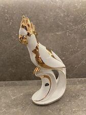 Porzellan Figur Papagei  50-60er Jahre? Echt Gold Bemahlt Handarbeit 40 cm