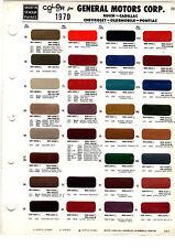 1970 CHEVROLET CORVETTTE PONTIAC GTO BUICK RIVIERA OLDSMOBILE 442 PAINT 70 MS 5