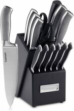 Cuisinart Graphix Collection 15-Piece Stainless Steel Cutlery Knife Block Set