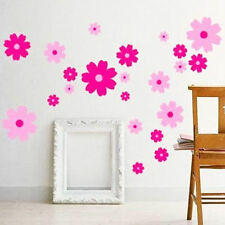 Pink Flowers Wall Sticker Bedroom Decorative Wall Decal Window Door Decor IC1C