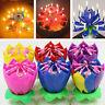Birthday Cake Music Candles Lotus Flower Christmas Festival Decorative Music