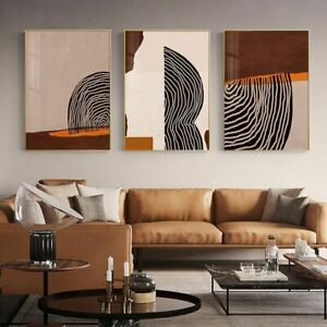 Geometric Line Canvas Paintings Modern Abstracts Color Blocks Wall Poster Prints