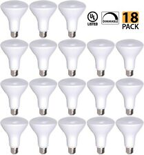 [18-Pack] OptoLight BR30 LED Bulb 9W 2700K Warm White DIMMABLE, 810 Lumens