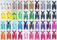 Kinder Jungen Mädchen Hosenträger Kinderhosenträger Clips Neon Bunt Farbig