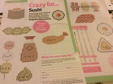 Kawaii sushi Mini motifs cross stitch pattern chart only (854)