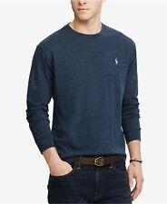 Polo Ralph Lauren Men's Vintage Classic Fit Pony L/S Shirt - Gentian Blue - XXL