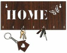 Home Wooden Brown Key Holder With A Key Chain Organizer