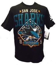 New San Jose Sharks Mens Sizes M-L-XL-2XL-3XL Gray G-III Shirt