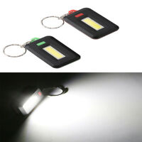 Mini COB LED Portable Outdoor Camping Flashlight Keychain Torch Light Lamp