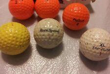 Golden Ram Pro Tour Orange Golf balls, Royal Special, Wilson, Spalding