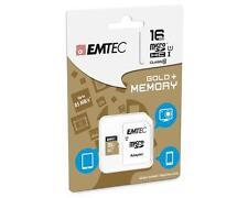 16 GO Micro SDHC Carte mémoire+Adaptateur SD EMTEC Classe 10 pour Galaxy S3,85MB