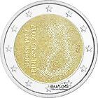 Pieza 2 euros conmemorativa FINLANDIA 2017 100 años del'Independencia Finlandesa