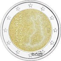 Pièce 2 euros commémorative FINLANDE 2017  100 ans de l'Indépendance Finlandaise