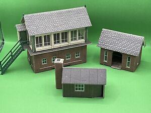 3 Metcalfe Oo Gauge Assembled Card Kit Buildings Small Joblot Model Railway