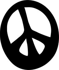 GROOVY PEACE SYMBOL Vinyl Decal 150mm