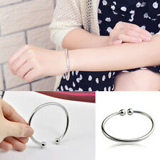 Women's Silver Plated Open Hand Cuff Bracelet Simple Garlic Bangle Beauty Gift