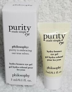 Philosophy Purity Made Simple Eye HYDRA-BOUNCE EYE GEL am/pm Gel .1 oz/3mL New