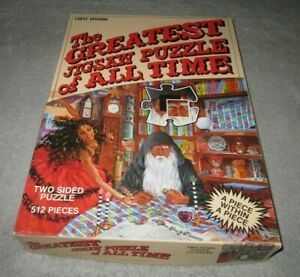 The Greatest Jigsaw Puzzle of All Time 512 Pieces Two Sided Puzzle EUC Adult Own