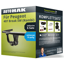 Anhängerkupplung starr für PEUGEOT 407 Break SW (Kombi) +E-Satz NEU ABE PKW