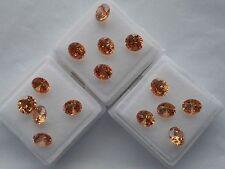 2x6mm round champagne cubic zirconia loose gemstones.