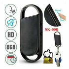 8GB Mini Keychain Voice Activated Sound Audio Recorder Pen Dictaphone Device