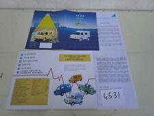 N°4531 / dépliant la S.E.E.R présente la volta camionnette utilitaires 1988