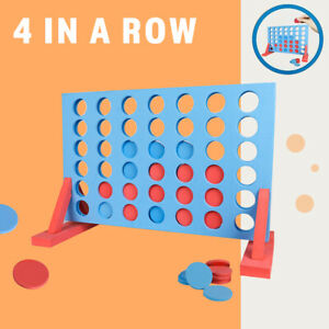 Giant Connect 4 In A Row Garden Fun Play Set Toy Kids Family Outdoor Game