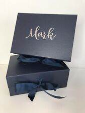 Gift Box For Best Man /usher / Father Of The Bride/groom Box A5 Deep Navy